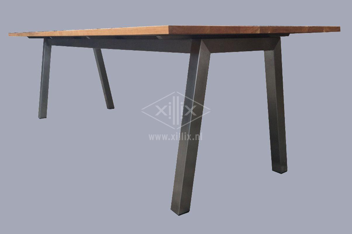 Xillix roestvrijstaal exclusieve tafels op maat - Stoelen voor glazen tafel ...