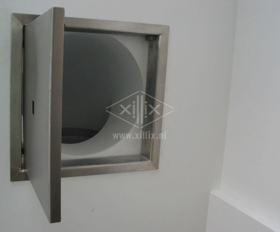 op maat gemaakt rvs luik xillix.nl voor stortkoker wasgoed