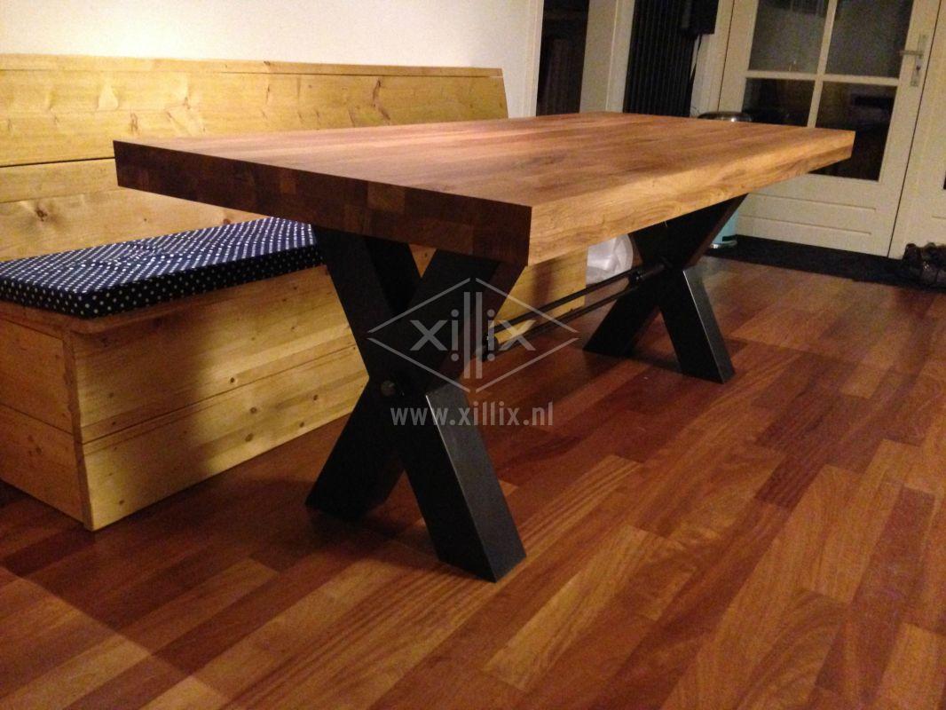 Xillix roestvrijstaal design tafel op maat - Ijzer keuken tafel smederij ...