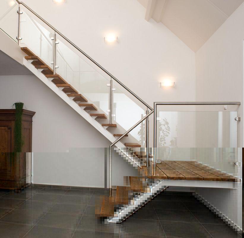 Xillix roestvrijstaal balustrades staanders en glas for Balustrade trap