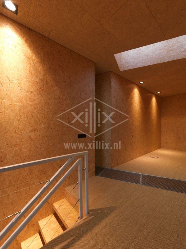 balustrade van wit gepoedercoat staal met rvs spankabels xillix.nl