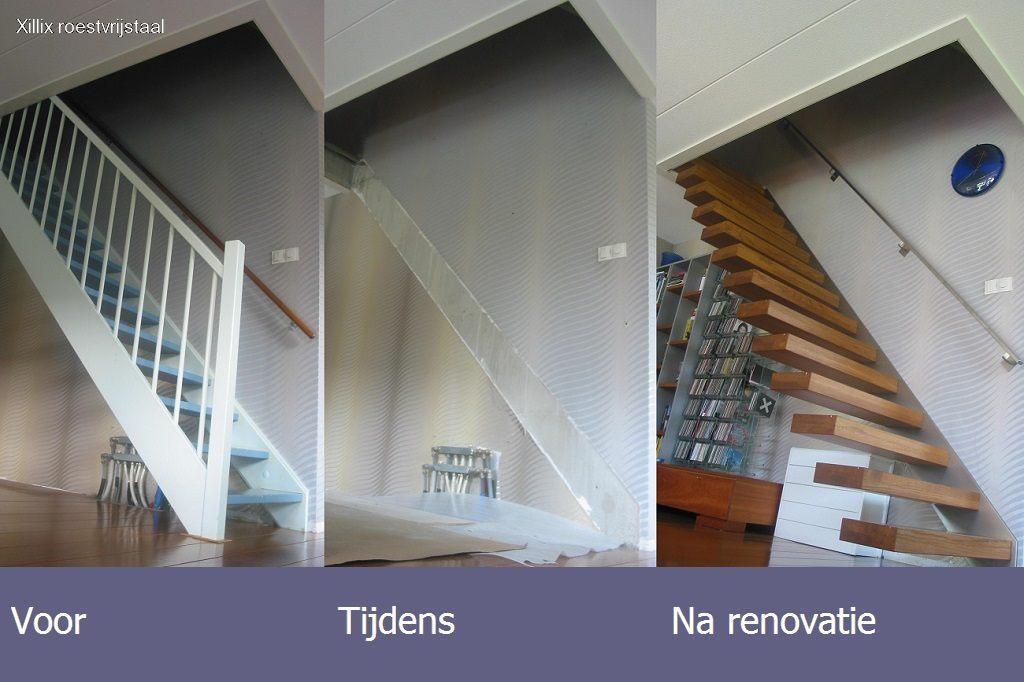 trap gerenoveerd naar zwevende trap door xillix