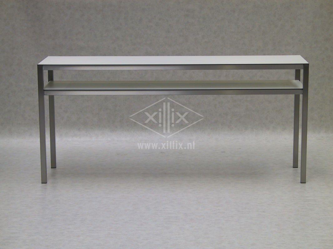 extra hoge en smalle keukentafel met legblad