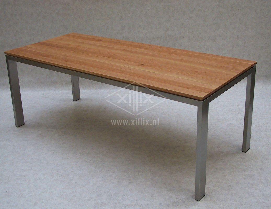 Rvs Onderstel Tafel : Xillix roestvrijstaal design tafel op maat