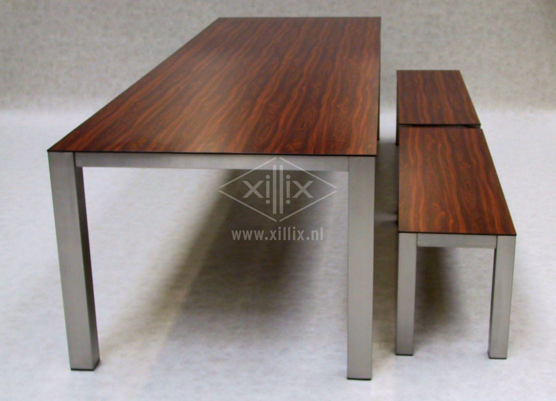 Xillix roestvrijstaal - design tafel op maat