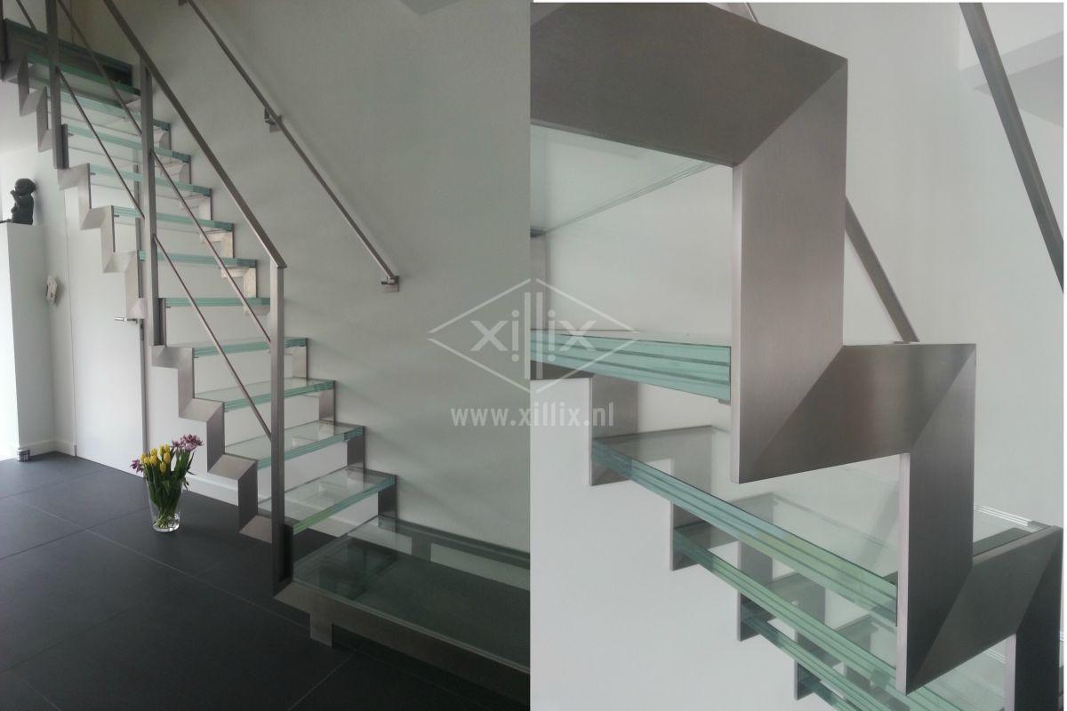 luxe muizentrap van rvs met glazen treden xillix.nl