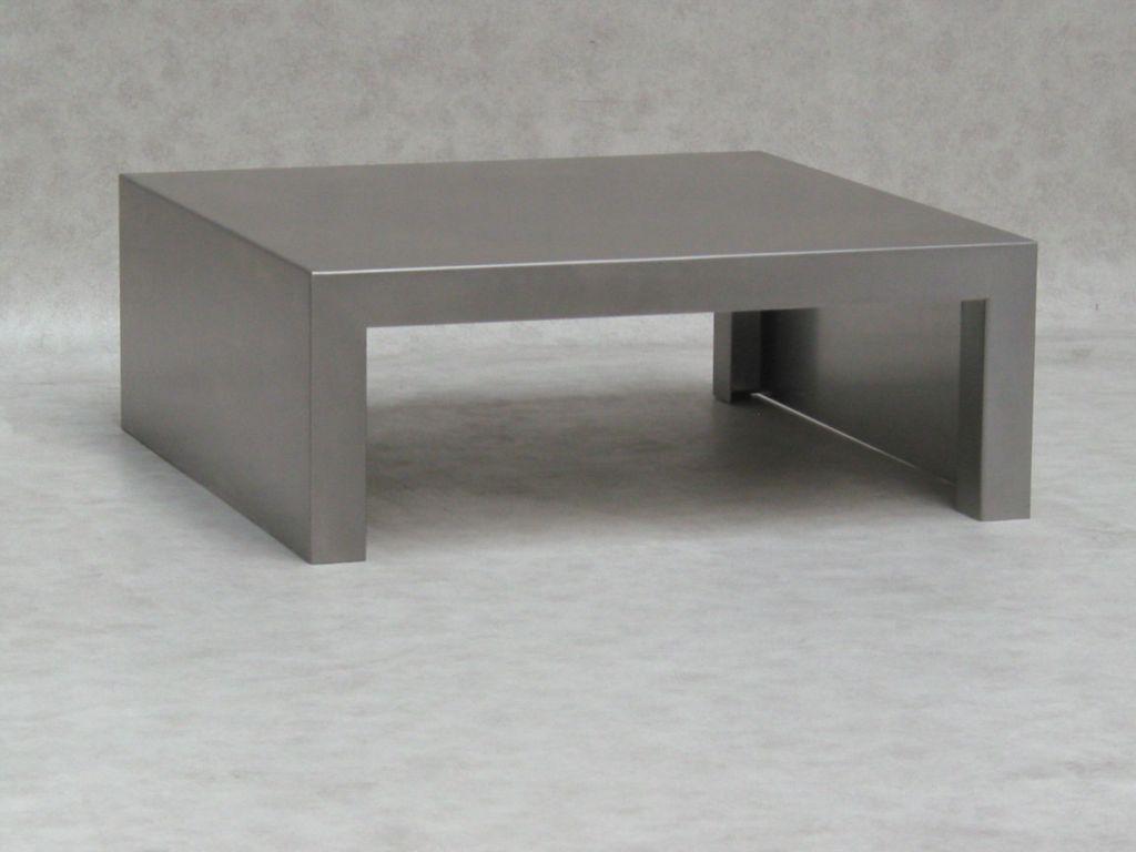 Kleine maatwerk roestvrijstalen salontafel